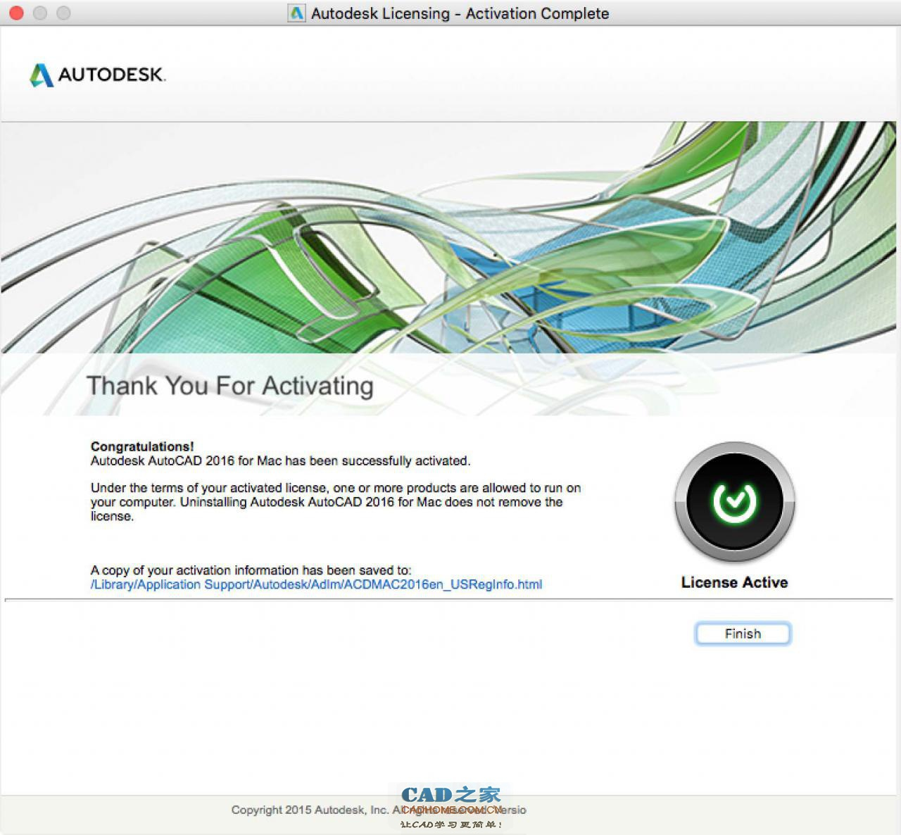 Autodesk AutoCAD 2016 for Mac 简体中文破解版